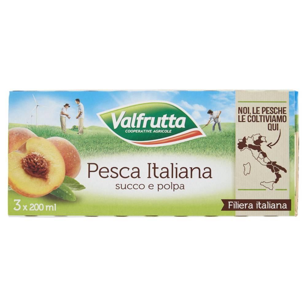 VALFRUTTA SUCCO PESCA ML.200X3