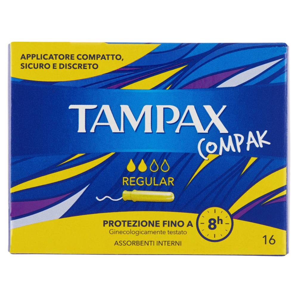 TAMPAX COMPAK REGULAR 16
