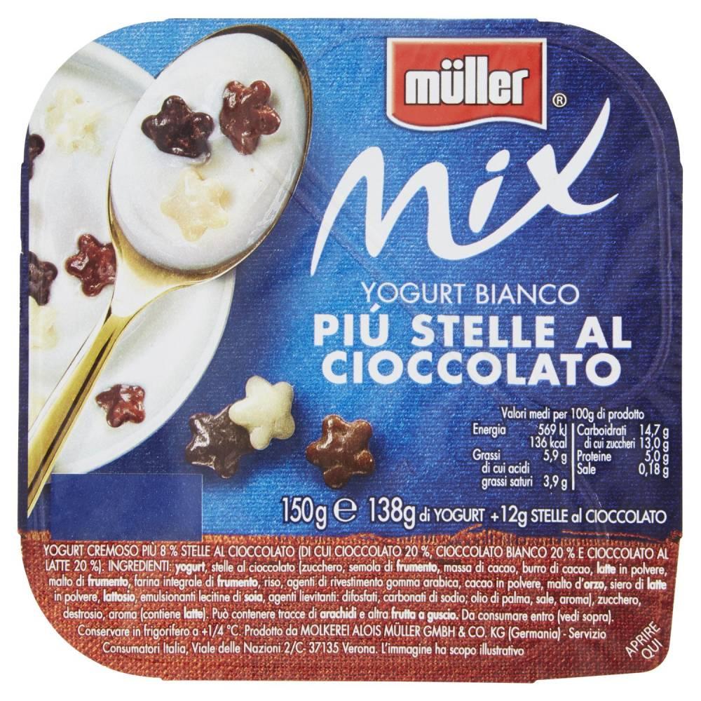 MULLER MIX BIANCO STELLE AL CIOCC GR.150